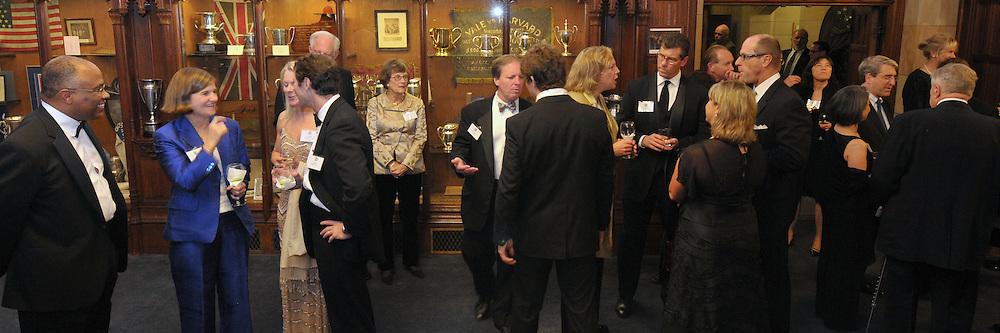 Cocktail Reception for Blue Leadership Honorees. Yale University Athletics Blue Leadership Ball 2009.