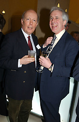 Left to right, JULIAN FELLOWS and royal writer HUGO VICKERS at a the Orion Publishing Group Author Party and a private view of the 'Turner Whistler Monet' exhibition at Tate Britain, Atterbury Street, London SW1 on 23rd February 2005.<br /><br />NON EXCLUSIVE - WORLD RIGHTS