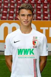 08.07.2015, WWK Arena, Augsburg, GER, 1. FBL, FC Augsburg, Fototermin, im Bild Bastian Kurz #26 (FC Augsburg) // during the official Team and Portrait Photoshoot of German Bundesliga Club FC Augsburg at the WWK Arena in Augsburg, Germany on 2015/07/08. EXPA Pictures © 2015, PhotoCredit: EXPA/ Eibner-Pressefoto/ Kolbert<br /> <br /> *****ATTENTION - OUT of GER*****