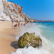 Big rock on Kaputas beach, Turkish Riviera