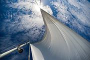 Orion sailboat, Sea of Cortez, Baja, Mexico