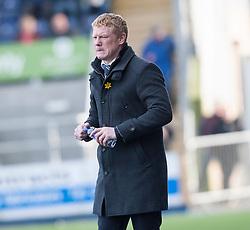 Falkirk's manager Gary Holt.<br /> Falkirk 1 v 1 Livingston, Scottish Championship game today at The Falkirk Stadium.<br /> © Michael Schofield.