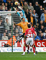 Photo: Steve Bond/Sportsbeat Images.<br /> Wolverhampton Wanderers v Bristol City. Coca Cola Championship. 03/11/2007. Adriano Basso safely gathers under pressure
