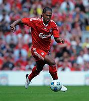 Fotball<br /> England<br /> 08.08.2009<br /> Foto: Fotosports/Digitalsport<br /> NORWAY ONLY<br /> <br /> Glen Johnson<br /> Liverpool 2009/10<br /> Liverpool V Atletico Madrid 08/08/09<br /> Pre Season Friendly 2009