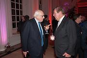 RONALD GRIERSON;  SIR DAVID DAVIES, Leonie Frieda book party  for ' The Deadly Sisterhood.' The Orangery, Kensington Palace. London. 20 November 2012.