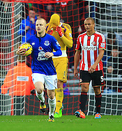 Costel Pantimilimon of Sunderland looks dejected after failing to save Everton's penalty - Sunderland vs. Everton - Barclay's Premier League - Stadium of Light - Sunderland - 09/11/2014 Pic Philip Oldham/Sportimage