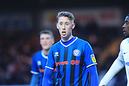 Joe Bunney during the EFL Sky Bet League 1 match between Rochdale and Coventry City at Spotland, Rochdale, England on 9 February 2019.