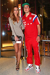 "17.05.2014, T Com, Berlin, GER, DFB Pokal, Bayern Muenchen Pokalfeier, im Bild Mario Goetze pose with Annkathrin Mario Goetze, Annkathrin, // during the FC Bayern Munich ""DFB Pokal"" Championsparty at the T Com in Berlin, Germany on 2014/05/17. EXPA Pictures © 2014, PhotoCredit: EXPA/ Eibner-Pressefoto/ EIBNER<br /> <br /> *****ATTENTION - OUT of GER*****"
