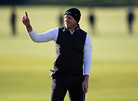 Golf - 2021 Alfred Dunhill Links Championship - Day Four - The Old Course at St Andrew's - Day Four -  Sunday 3rd October 2021<br /> <br /> Danny Willett holes a putt on the 18th to win the 2021 Alfred Dunhill Links Championship<br /> <br /> Credit: COLORSPORT/Bruce White