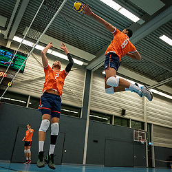 Wessel Keemink #2 of Netherlands, Fabian Plak #8 of Netherlands in action during the Olaf Ratterman Memorial match between Netherlands vs. Eredivisie All Star team on May 03, 2021 in Barneveld.
