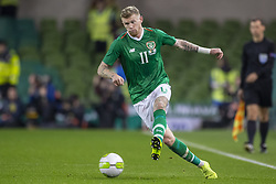 November 15, 2018 - Dublin, Ireland - James McClean of Ireland pictured in action during the International Friendly match between Republic of Ireland and Northern Ireland at Aviva Stadium in Dublin, Ireland on November 15, 2018  (Credit Image: © Andrew Surma/NurPhoto via ZUMA Press)