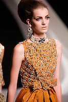 Denisa walks the runway  at the Christian Dior Cruise Collection 2008 Fashion Show