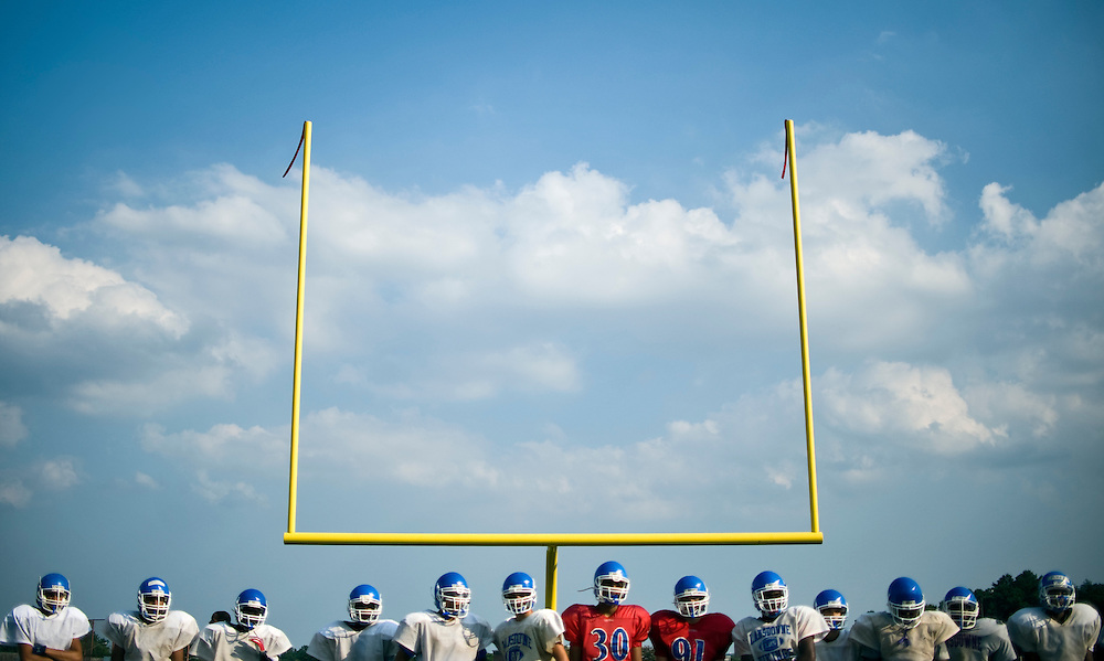 (staff photo by Matt Roth)..during Lansdowne High School's football practice Tuesday, August 25, 2009. ..