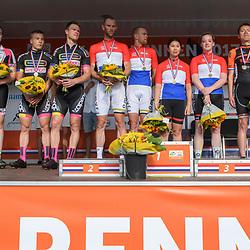 18-06-2017: Wielrennen: NK Paracycling: Montferland<br /> s-Heerenberg (NED) wielrennen Podium mannen en vrouwen tandem