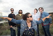 George, WA. - May 26th, 2012 Alabama Shakes poses for a portrait backstage at the Sasquatch Music Festival in George, WA. United States