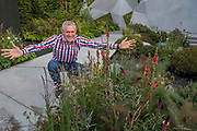 The JeremyVine (pictured) textured garden designed by Matt Keightley - The Chelsea Flower Show organised by the Royal Horticultural Society with M&G as its MAIN sponsor for the final year.