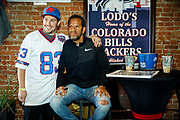 SHOT 12/10/17 12:58:06 PM - Former Buffalo Bills wide receiver and Hall of Fame player Andre Reed signs autographs and meets with fans at LoDo's Bar and Grill in Denver, Co. as the Buffalo Bills played the Indianapolis Colts that Sunday. Reed played wide receiver in the National Football League for 16 seasons, 15 with the Buffalo Bills and one with the Washington Redskins. (Photo by Marc Piscotty / © 2017)