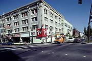 CS02007.  Broadway Hotel, corner of Burnside, 7 UP club. October 1980
