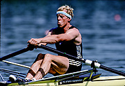 Barcelona Olympics 1992 - Lake Banyoles, SPAIN, NZL M1X, VERDONK Eric Franciscus, {Mandatory Credit: © Peter Spurrier/Intersport Images]