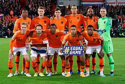 10-10-2019 NED: Netherlands - Northern Ireland, Rotterdam<br /> UEFA Qualifying round Group C match between Netherlands and Northern Ireland at De Kuip in Rotterdam / Team Netherlands