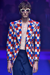 Model Tom Dalmulder walks on the runway during the Gucci Fashion Show during Milan Fashion Week Spring Summer 2018 held in Milan, Italy on September 20, 2017. (Photo by Jonas Gustavsson/Sipa USA)