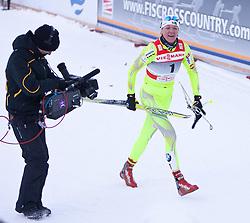 05.01.2011, Nordic Arena, Toblach, ITA, FIS Cross Country, Tour de Ski, Qualifikation Sprint Women and Men, im Bild Petra Majdic (SLO, #4) Winner, Platz 1, Celebrate. EXPA Pictures © 2011, PhotoCredit: EXPA/ J. Groder