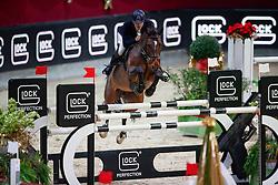 Rhomberg Christian, AUT, Cornetta<br /> MEVISTO Amadeus Horse Indoor Salzburg<br /> © Hippo Foto - Stefan Lafrentz<br /> 11-12-2016