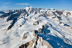 Peaks in the St. Elias Icefields, Kluane National Park, Yukon