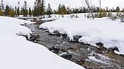 Cottonwood Creek in winter, Grand Teton National Park, Wyoming USA