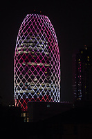 Pearl Building Bangkok - The concept behind the design of the Pearl Building Bangkok is energy efficiency.  The unique design of the building was to create an inspirational & iconic shape to resemble an oval pearl. Already a landmark in Bangkok, part of its fame is that on special occasions such as New Years or Valentines, the multicolored LED lighting on its shell is illuminated and puts on a light show.  Better yet, it is an energy-saving green building that uses insulated low iron glass to reduce outside heat while allowing natural light to enter which reduces the amount of electricity required for lighting and air conditioning which reduces electricity consumption by 60 per cent. The building also has a water-recycling treatment system reducing water usage reducing water usage by 40 per cent. The building was designed by Palmer & Turner architectural firm.
