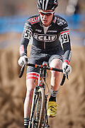 SHOT 1/12/14 12:43:22 PM - Maxx Chance (#59) of Boulder, Co. competes in the Men's 17-18 Race in the 2014 USA Cycling Cyclo-Cross National Championships at Valmont Bike Park in Boulder, Co. Chance finished second with a time of 41:01. (Photo by Marc Piscotty / © 2014)