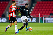 Mauro Junior of PSV, Moussa Wague of PAOK during the UEFA Europa League, Group E football match between PSV and PAOK on november 26, 2020 at Philips Stadion in Eindhoven, Netherlands - Photo Perry vd Leuvert / Orange Pictures / ProSportsImages / DPPI