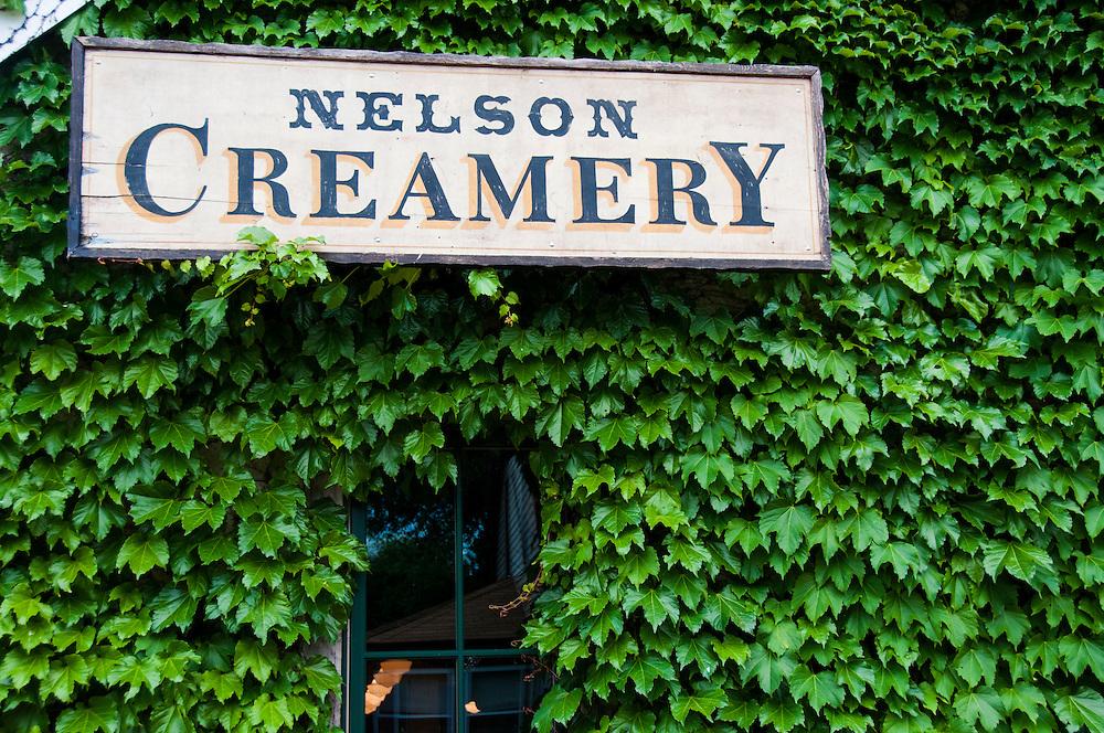 The Nelson Creamery in Alma, Wisconsin.