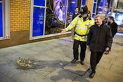 © Licensed to London News Pictures . FILE PICTURE DATED 05/05/2013 of Manchester's Police and Crime Commissioner , Tony Lloyd (right) on overnight patrol with PC Gary Cave in Central Manchester (left) as the British Home Secretary , Theresa May , takes questions at the annual Police Federation conference on licensing and policing the night time economy , today (Wednesday 15th May 2013) . Photo credit : Joel Goodman/LNP