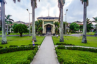 Indonesia, Sumatra. Medan. Istana Maimun Palace was built in 1888 by the sultan of Deli. His ancestors still occupy one wing of the building.
