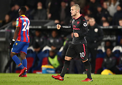 Arsenal's Jack Wilshere celebrates after the Premier League match at Selhurst Park, London.
