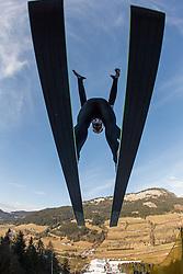 11.01.2014, Kulm, Bad Mitterndorf, AUT, FIS Ski Flug Weltcup, Probedurchgang, im Bild Rune Velta (NOR) // Rune Velta (NOR) during the Trial jump of FIS Ski Flying World Cup at the Kulm, Bad Mitterndorf, <br /> Austria on 2014/01/11, EXPA Pictures © 2014, PhotoCredit: EXPA/ JFK