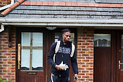 CLONDALKIN, IRELAND - August 14, 2018:  Aidan heads out to the gym where he will be hosting camp for young aspiring basketball players.<br /> <br /> Photo by: Johnnie Izquierdo