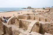 Israel, Caesarea, The arched at the Hippodrome built by king Herod first century BC