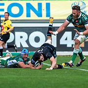 Treviso 24/04/2021 Stadio Monigo<br /> Rainbow Cup : Benetton Treviso v Glasgow Warriors <br /> <br /> Rufus McLean