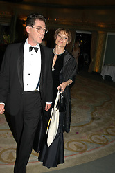 LADY VICTORIA GETTY and DR DESMOND BIDDULPH at the Chain of Hope Autumn Ball Fiesta held at The Dorchester, Park Lane, London on 6th October 2004.