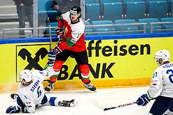 Miha Stebih of Slovenia and Gergo Nagy of Hungary during ice hockey match between Hunngary and Kazakhstan at IIHF World Championship DIV. I Group A Kazakhstan 2019, on May 3, 2019 in Barys Arena, Nur-Sultan, Kazakhstan. Photo by Matic Klansek Velej / Sportida