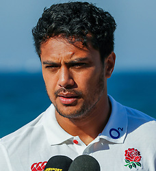 Denny Solomona of England during the England Press Conference and England at the  Kashmir restaurant,and team Hotel Umhlanga, Durban,South Africa.12,06,2018 Photo by (Steve Haag JMP)