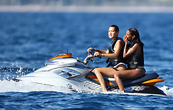 ANTIBES, 20TH OF MAY, 2017<br /> BELLA HADID ENJOYS JET SKI WITH FRIENDS AND HAVING FUN ON A YACHT<br /> ABACAPRESS.COM