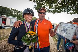 Brouwer Kirsten (NED) and Ad Valk (NED)<br /> FEI World Dressage Championships for Young Horses<br /> Internationales Dressur- und Springfestival - Verden 2014<br /> © Dirk Caremans