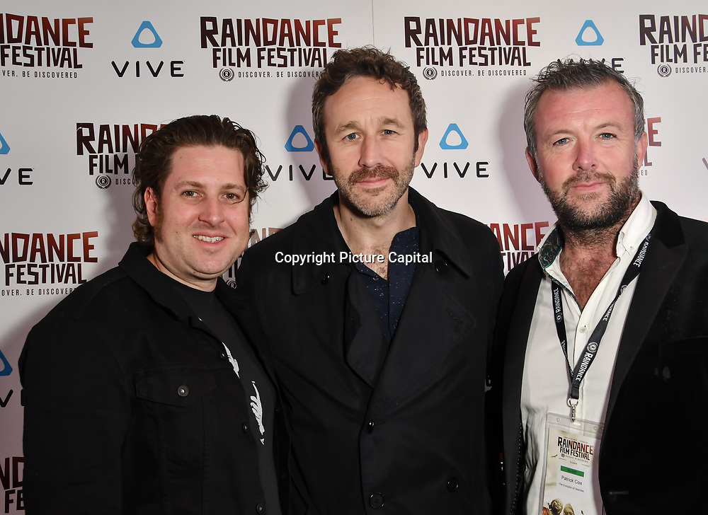 Chris O'Dowd star  in the VR piece The Evolution of Testicles attends the Raindance Film Festival - VR Awards, London, UK. 6 October 2018.