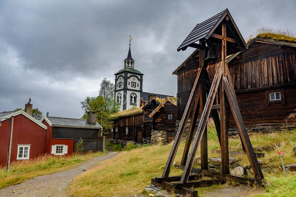 Church of Röros, an UNESCO World Herritage town, in Tröndelag, Norway.