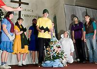 Charlie Brown Christmas rehearsal at Evangelical Baptist Church