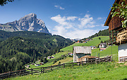 Passo delle Erbe / Wurzjoch, in the Dolomites, Trentino-Alto Adige/Südtirol (South Tyrol), Italy. The Dolomites are part of the Southern Limestone Alps, Europe. UNESCO honored the Dolomites as a natural World Heritage Site in 2009.