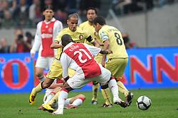 25-04-2010 VOETBAL: AJAX - FEYENOORD: AMSTERDAM<br /> De eerste wedstrijd in de bekerfinale is gewonnen door Ajax met 2-0 / Eyong Enoh en karim El Ahmadi<br /> ©2010-WWW.FOTOHOOGENDOORN.NL